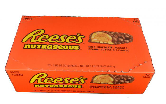 reese 39 s nut bar 18x47g my sweet box reeses peanut. Black Bedroom Furniture Sets. Home Design Ideas
